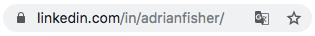 Adrian Fisher's LinkedIn URL