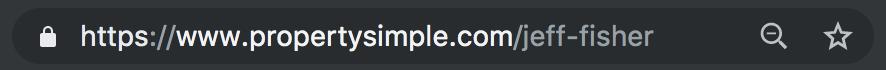 Agent URL on PropertySimple