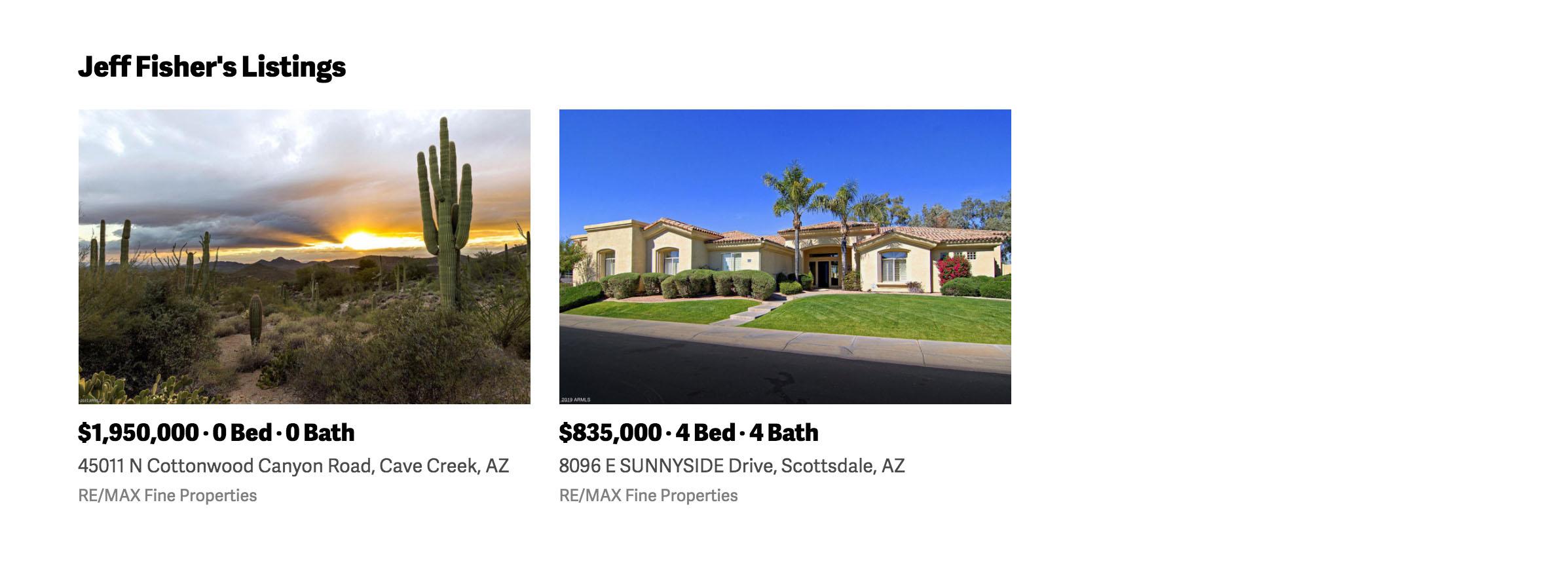 Agent listings on PropertySimple