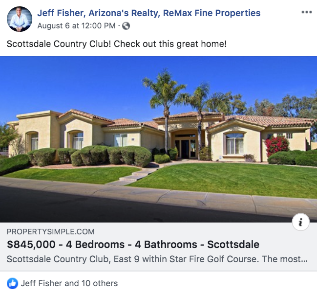 Listing post from Jeff Fisher