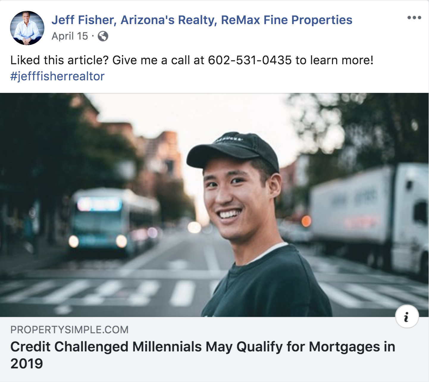 Example of a real estate article post