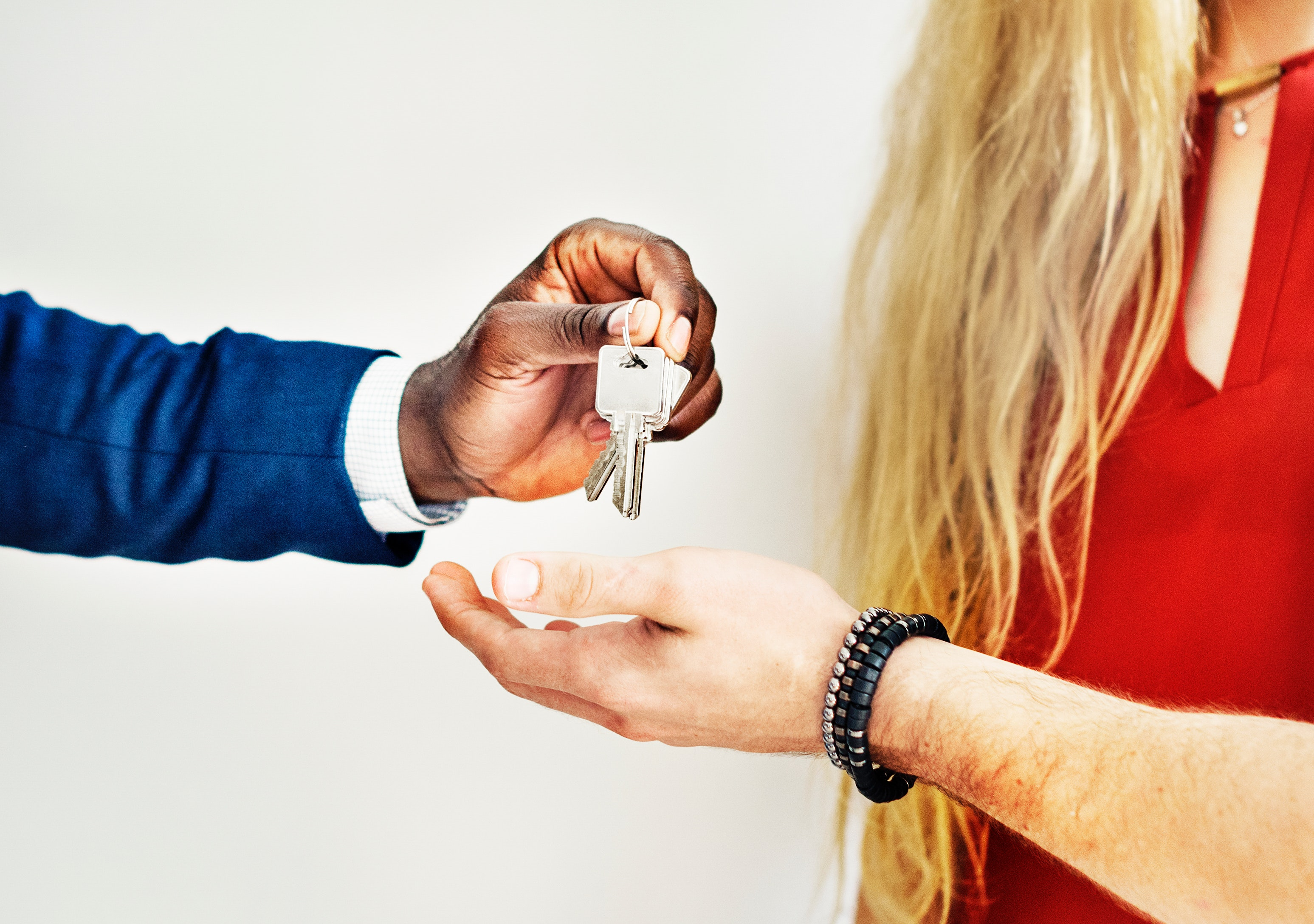 Handing over the keys to new home buyers