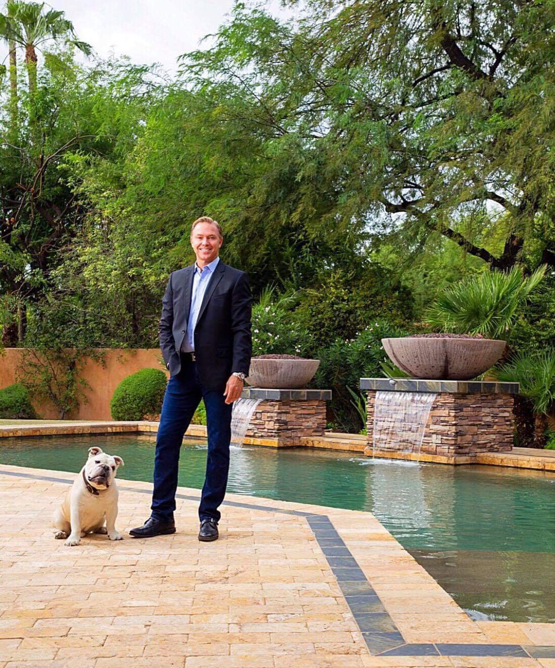 Jeff Fisher real estate agent Arizona with his Dog