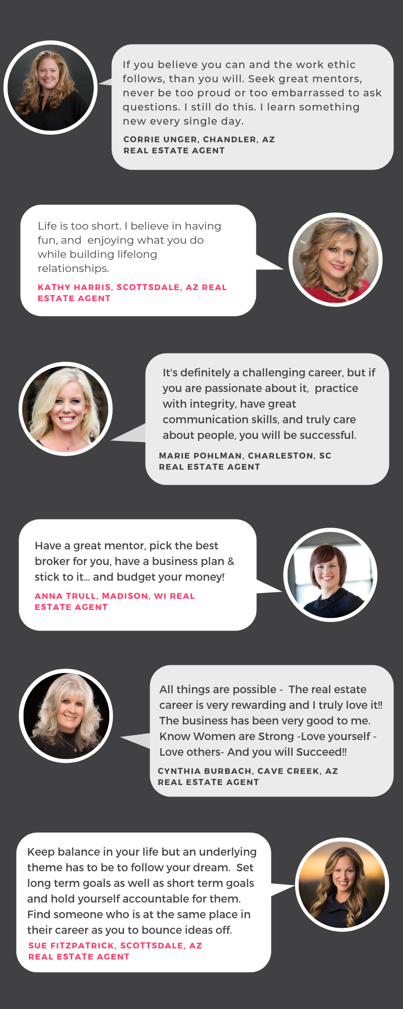 Quotes from 6 female agents who use PropertySimple
