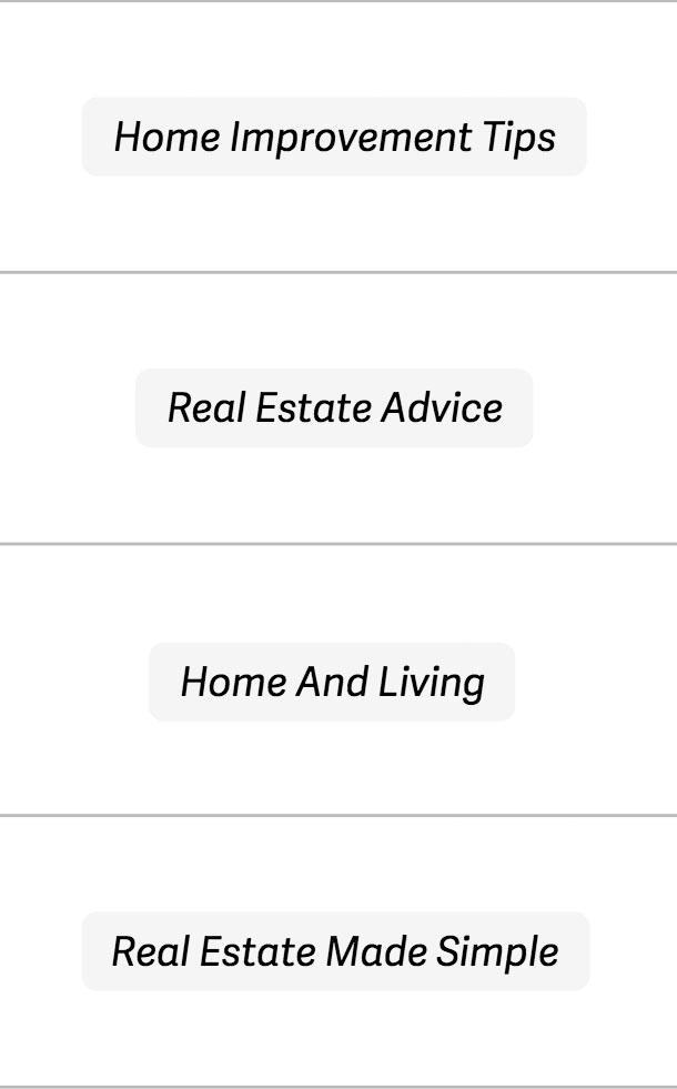 Real estate article topics